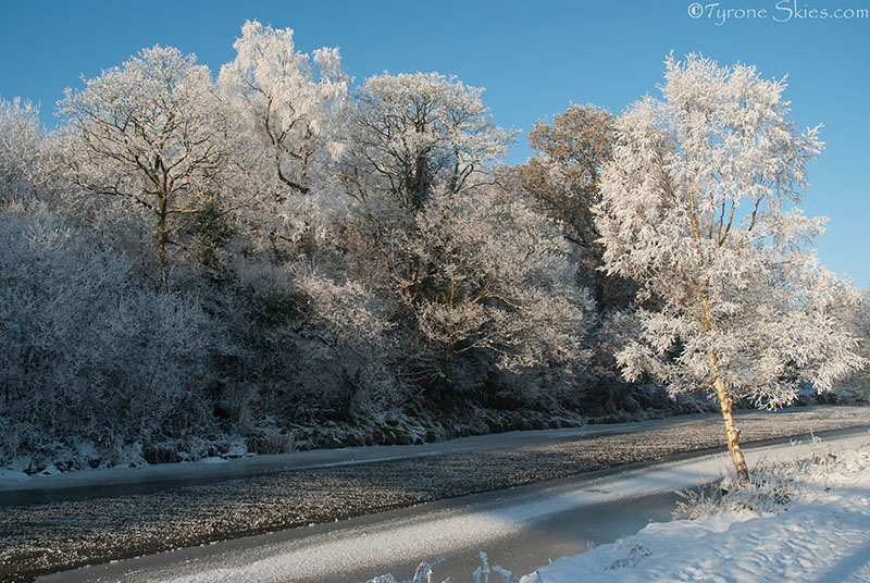 Frozen Omagh River