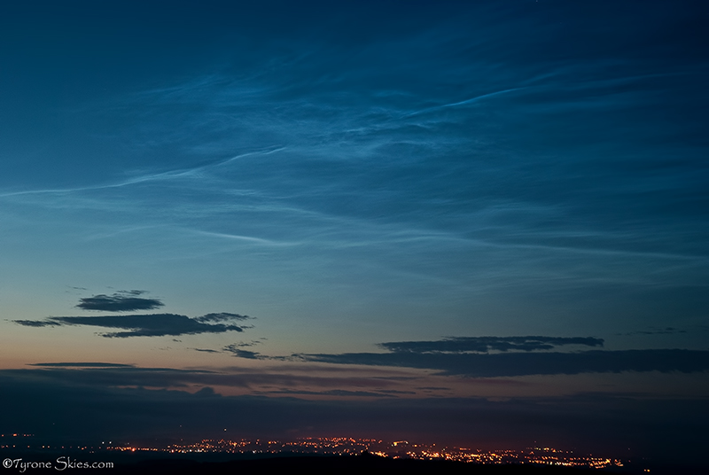 Noctilucent Clouds over Omagh - Noctilucent Clouds