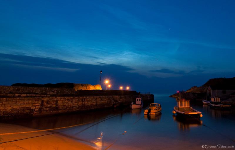 Ballintoy Harbour NLCs - Noctilucent Clouds
