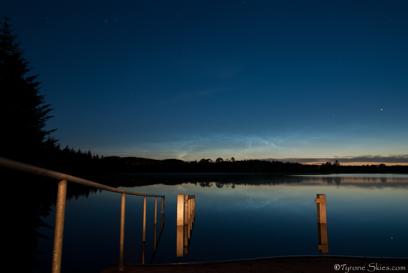 Shining Waters - Noctilucent Clouds
