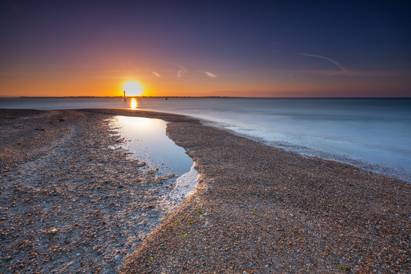 Eastoke Sunrise from the Beach, Hayling Island - Hayling Island Area