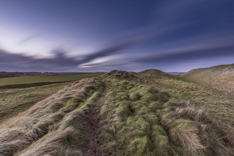 Twilight on Maiden Castle, Dorset - Dorset Landscapes