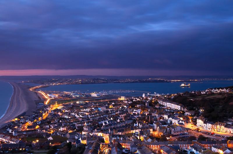 Portland Nightscape, Dorset - Dorset Seascapes