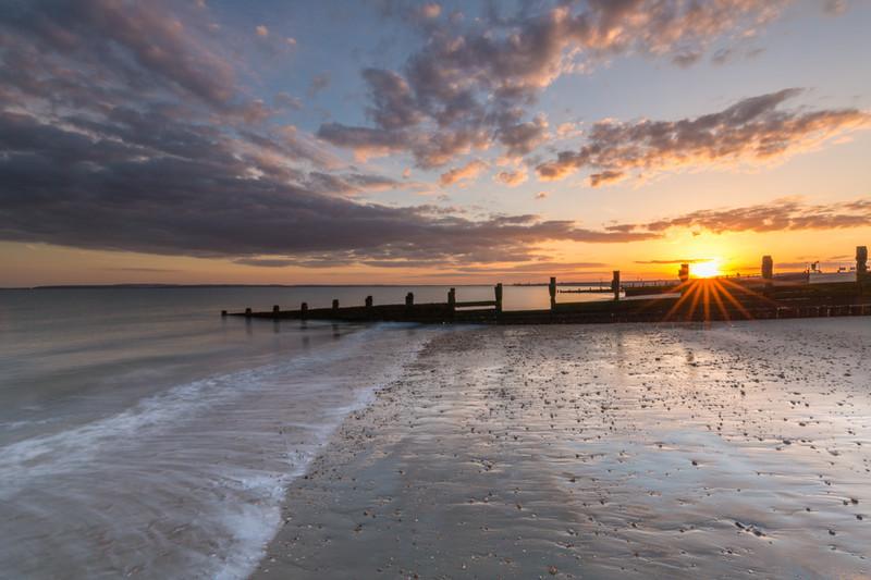 The Groynes at Sunset,Hayling Island - Hayling Island Area