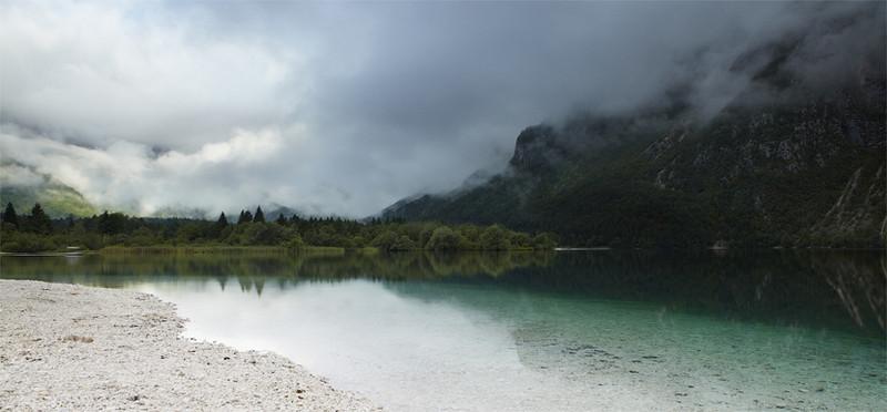 Misty morning on Lake Bohinj, Slovenia - European Scenes