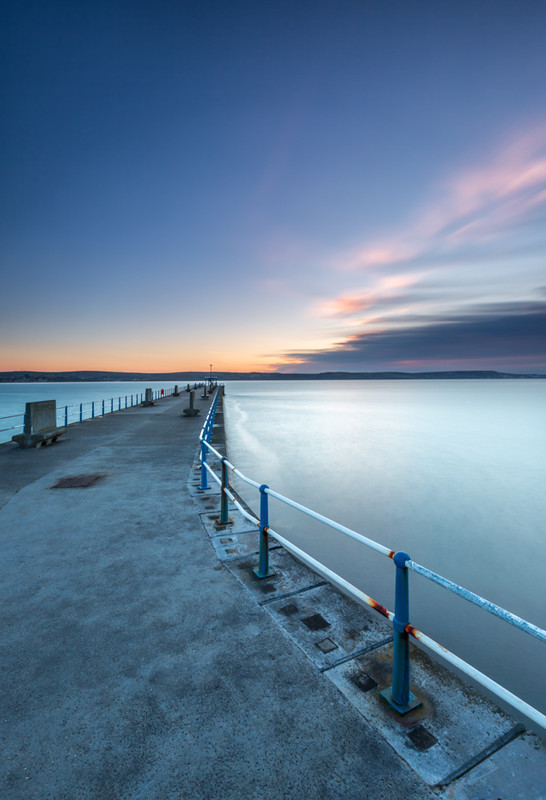 Dawn on The Stone Pier Weymouth, Dorset - Dorset Seascapes
