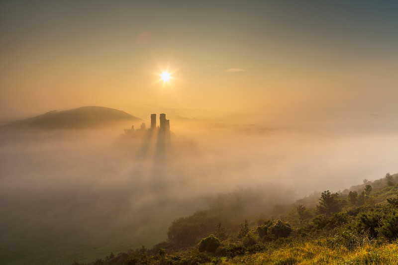 Castle in the Mist 2, Corfe Castle, Dorset - Dorset Landscapes