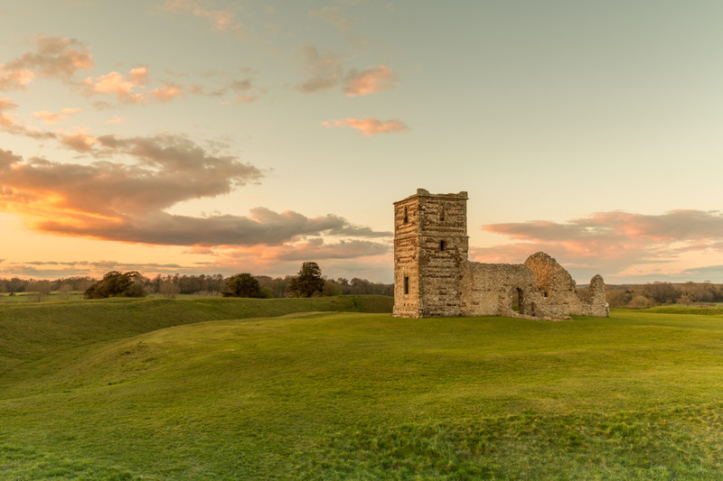 Knowlton Church Golden Hour, Dorset - Dorset Landscapes