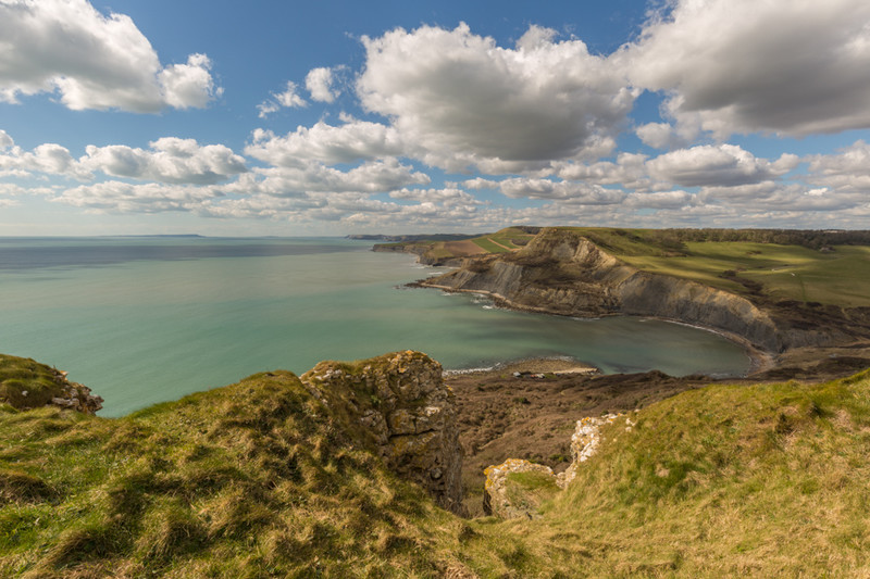 View towards Chapman's Pool near Emmetts Hill, St Aldhelm's Head - Dorset Seascapes
