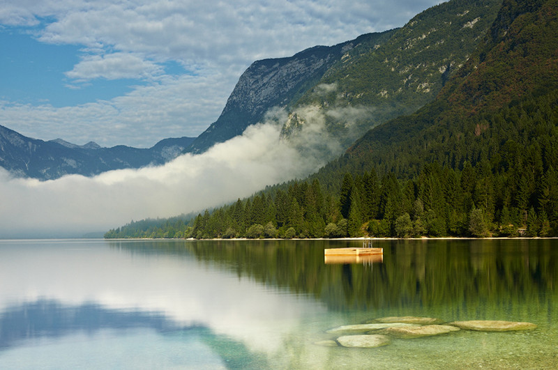 Early Morning at Lake Bohinj - European Scenes