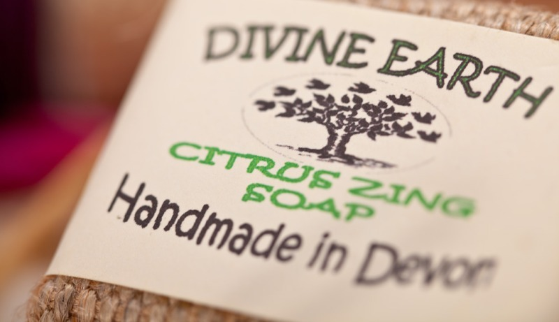 Divine Earth Soap Close Up - Products