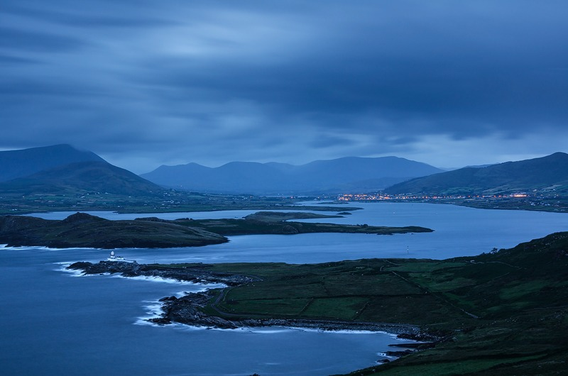 Dawn over Beginish Island and Valentia Harbour - Kerry