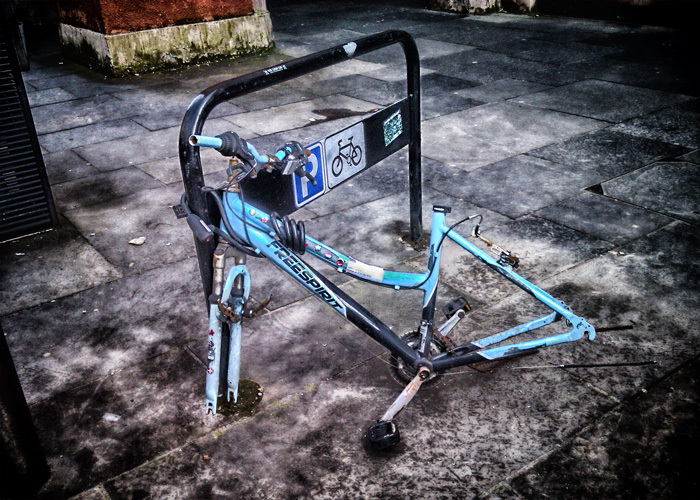 Ironic photograph | of bicycle | by Colin Robb