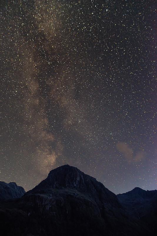 The Milky Way over Gearr Aonach, Glencoe - The Sun, the Moon, and the Stars!