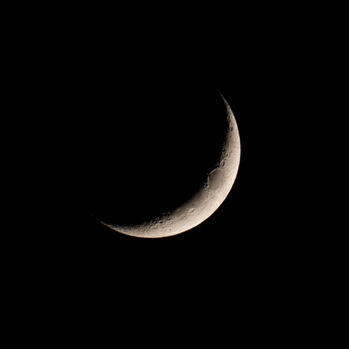 Crescent Moon | Photo by Colin Robb!