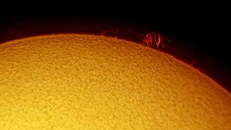 Sun's Promineces 19th August 2017 - The Sun, the Moon, and the Stars!