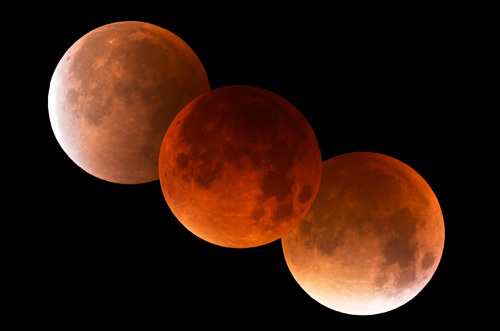 Lunar Eclipse (Composite) 28th September 2015 - The Sun, the Moon, and the Stars!