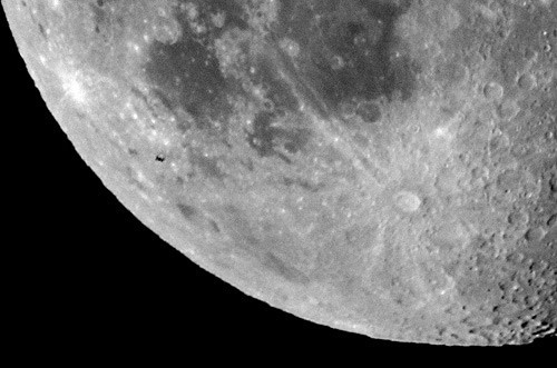 The International Space Station crossing the Moon - The Sun, the Moon, and the Stars!