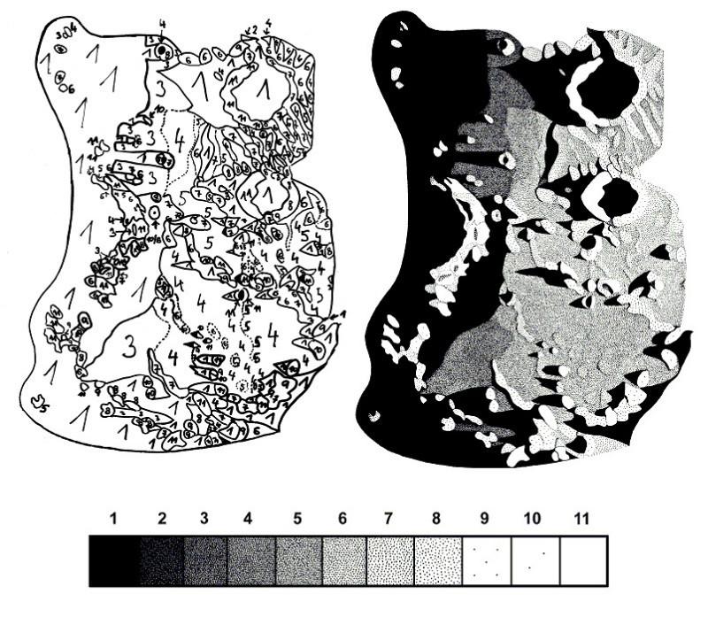 Archimedes, Aristillus & Autolycus line drawing taken at the telescope - Milan Blazek's Ink Drawings