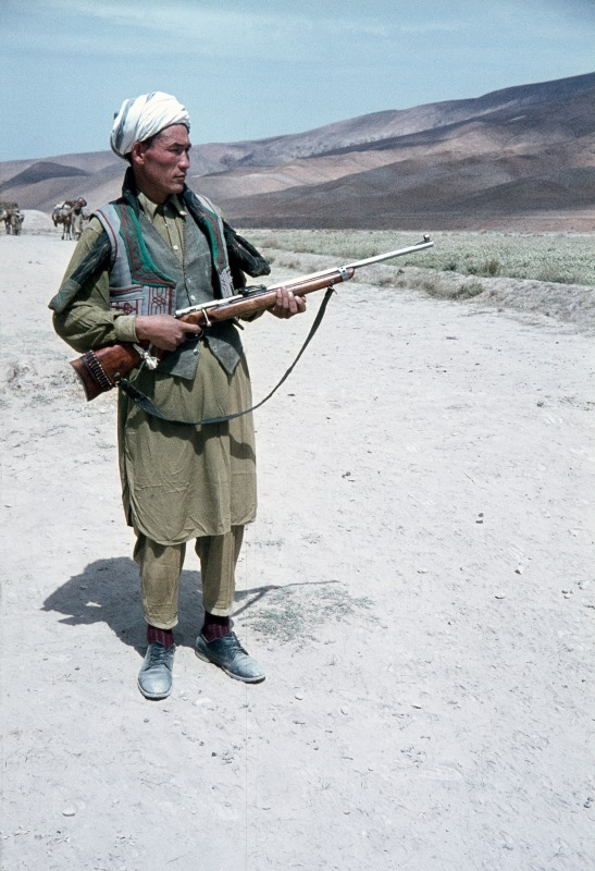 Hazara tribesman in central afghanistan
