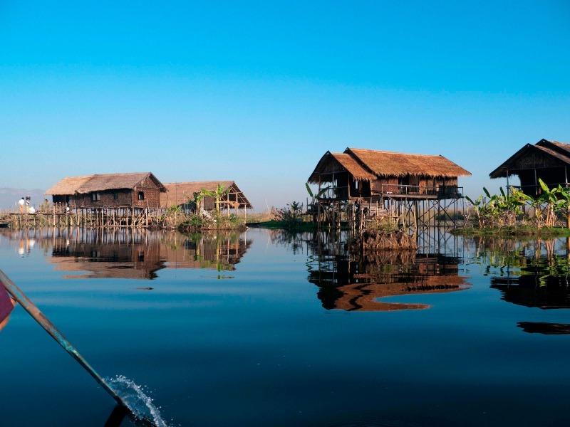 Inlay Lake stilt houses