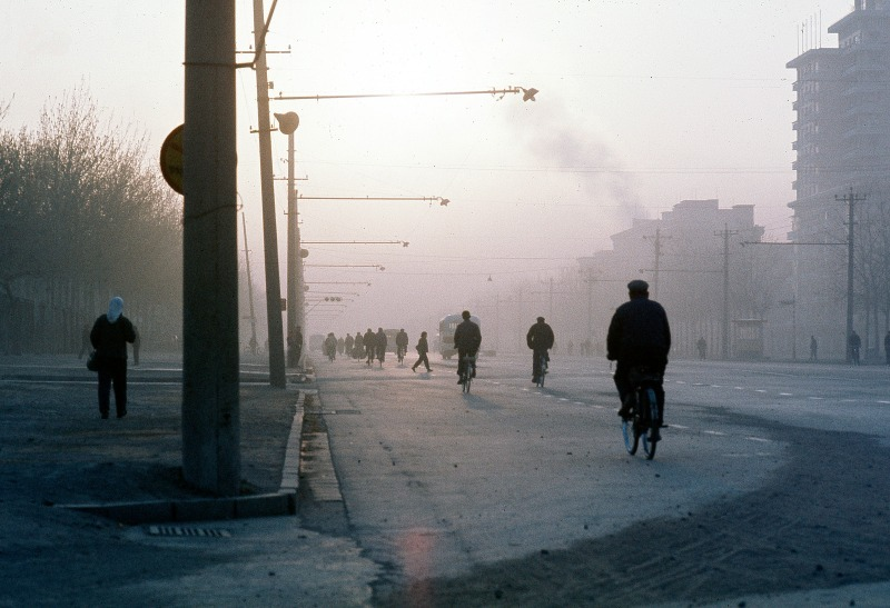 cyclists in San li tun Beijing