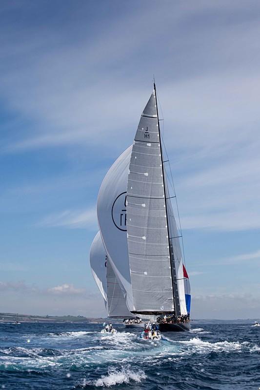 J Class, Falmouth Bay - J Class Yachts Racing at Falmouth