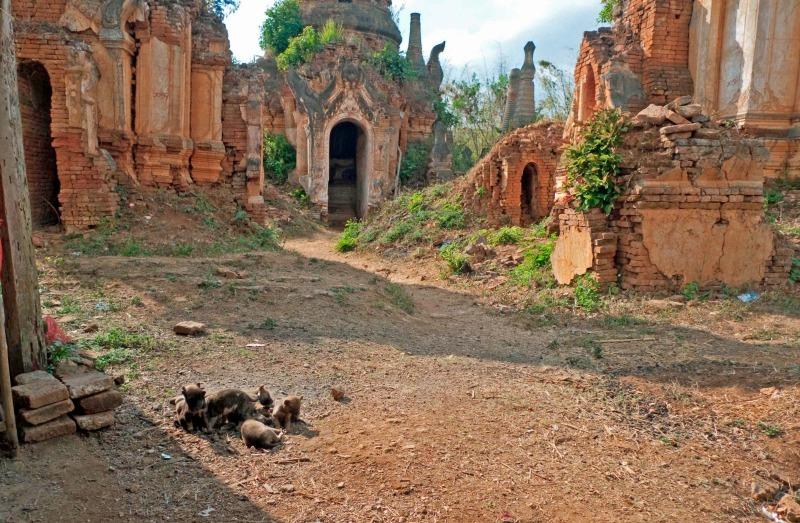 Indein ruined pagoda