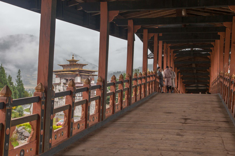 Bridge at Punakha - Bhutan