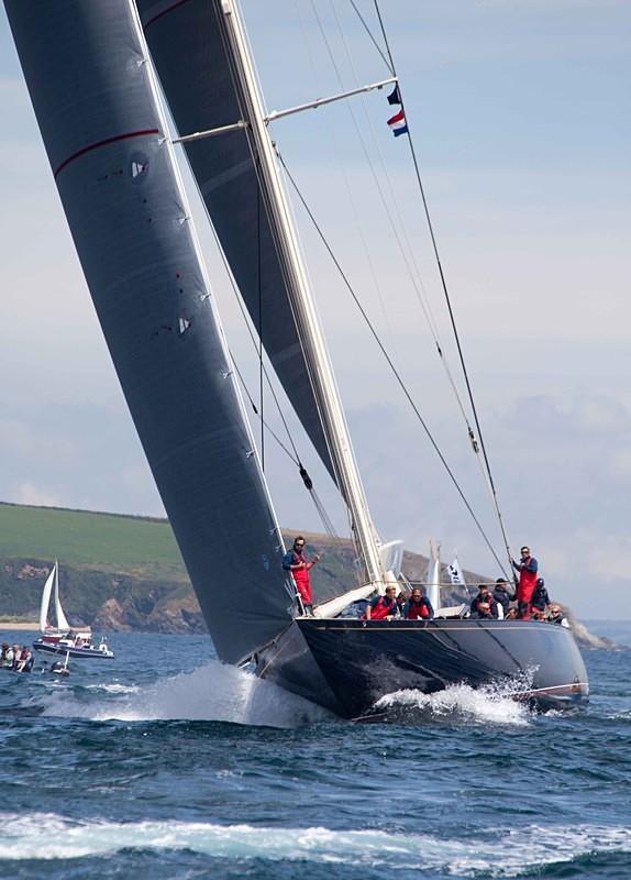 Lionheart - J Class Yachts Racing at Falmouth