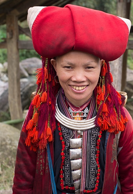 Red Dao girl near Sapa - Vietnam January 2013