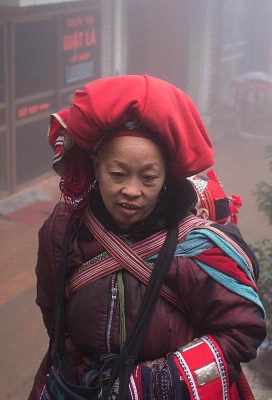 Red Dao national minority lady, Sapa - Vietnam January 2013