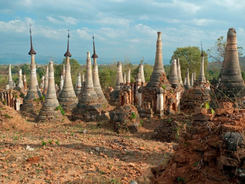 Indein ruined pagodas