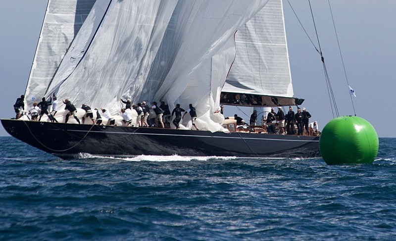 Lionheart - J Class Yachts Racing at Falmouth