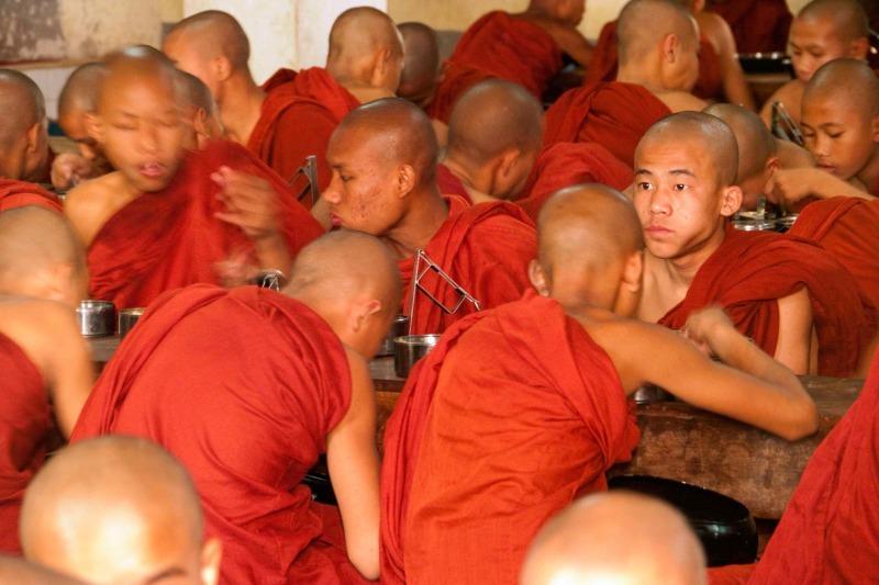 Novice monks Rangoon