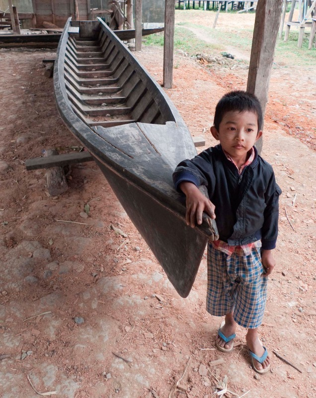 Inlay Lake boatyard, Burma