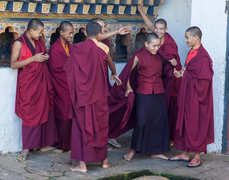 Young Monks, Phobjikha - Bhutan