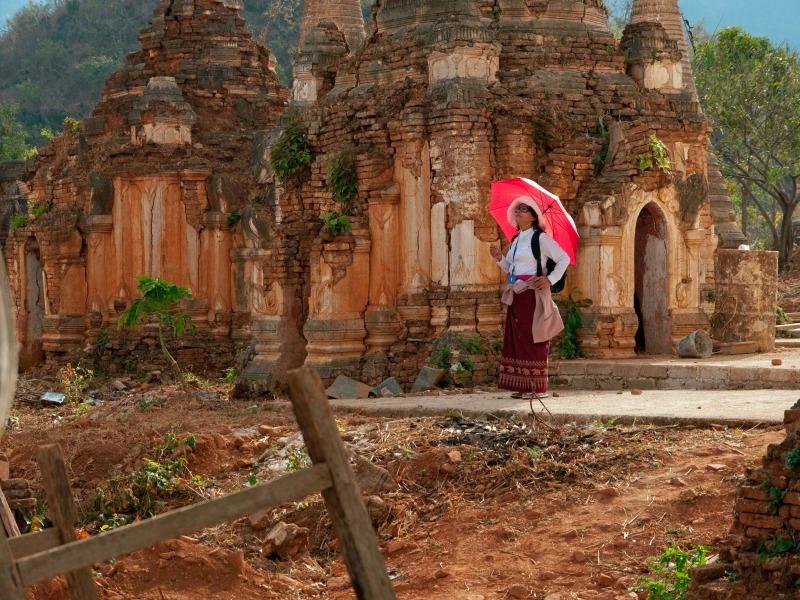 Temple at Indein, Burma
