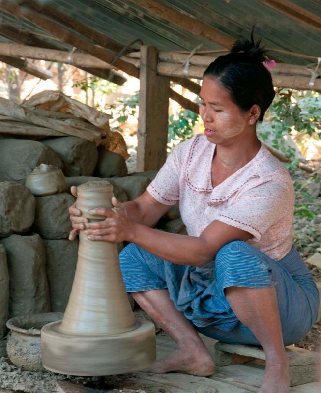 Potter in Burma