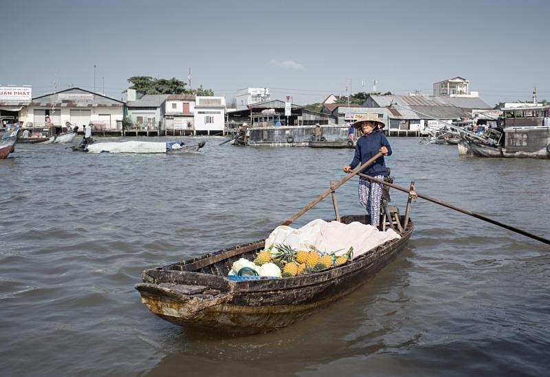Floating market, the Mekong Delta - Vietnam January 2013