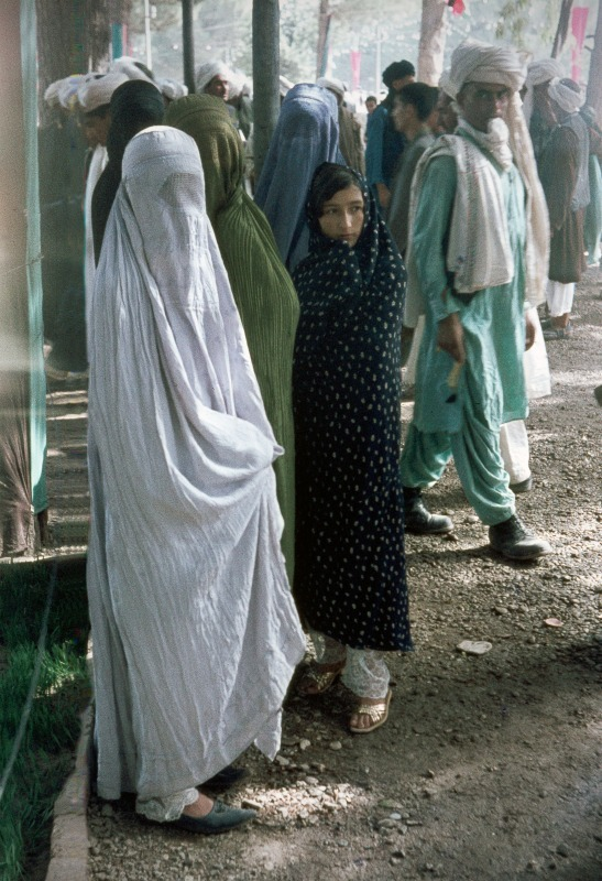Afghan women in chadari