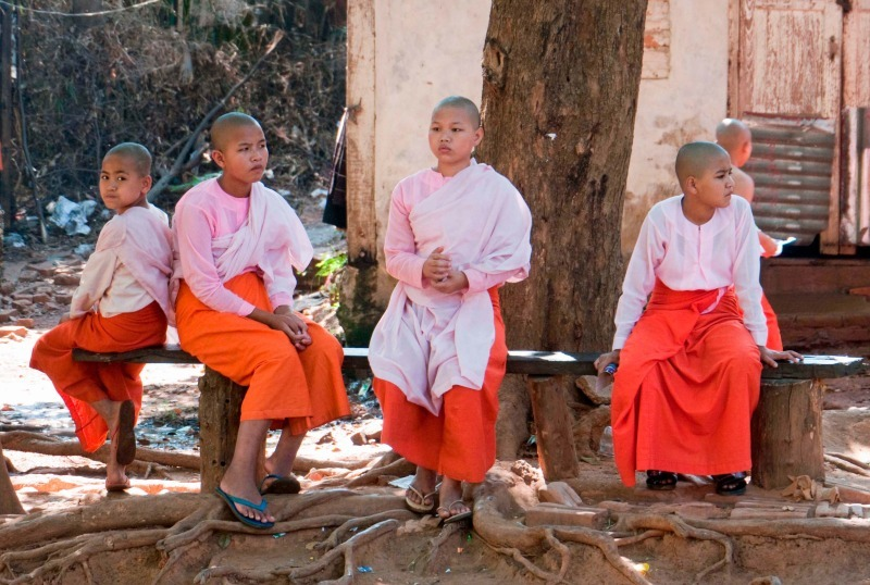 Young nuns in Burma