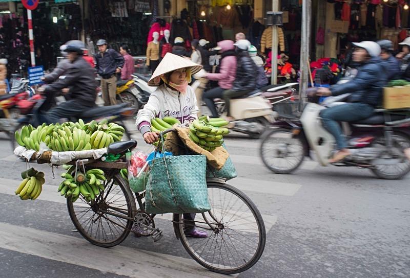 Hanoi street scene - Vietnam January 2013