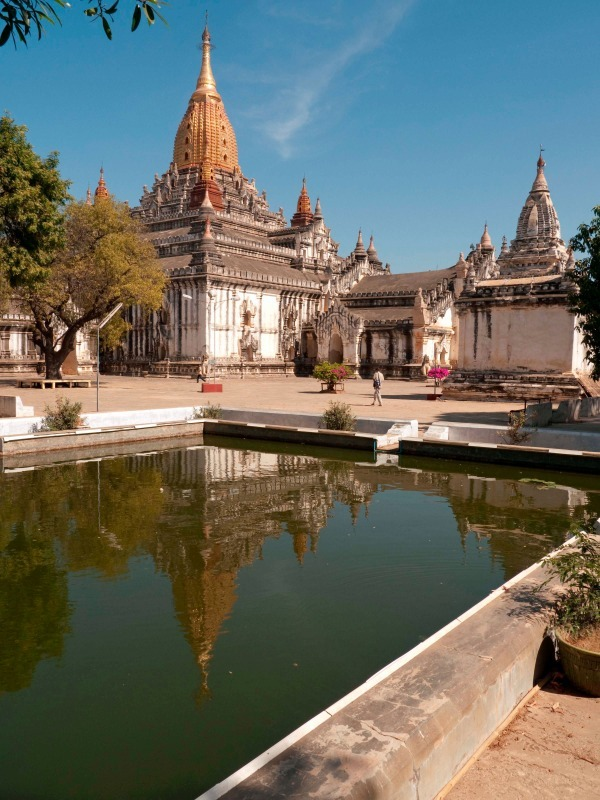 A temple near Bagan, Burma