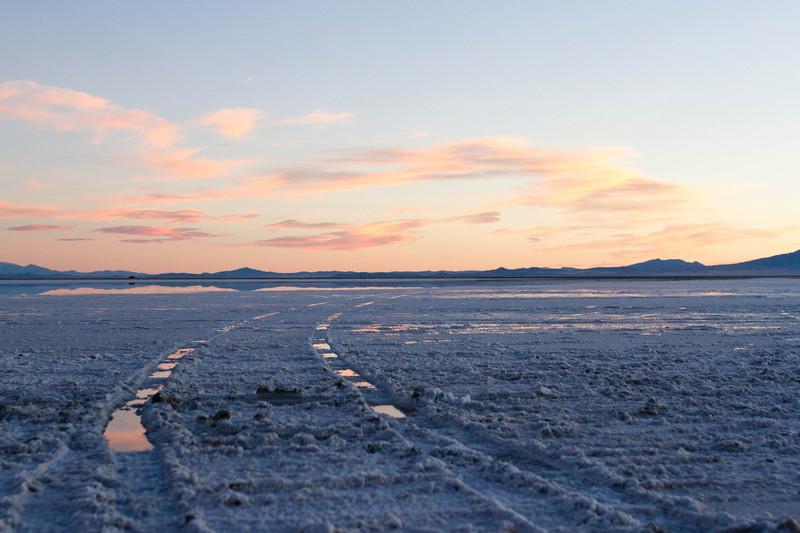 Salt Flats Sunset Horizontal - For Sale Scenery Photography