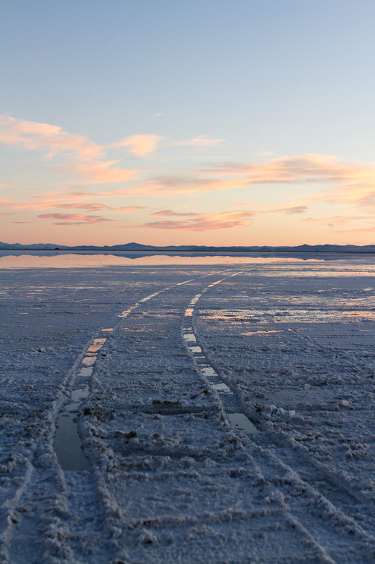 Salt Flats Sunset Vertical - For Sale Scenery Photography
