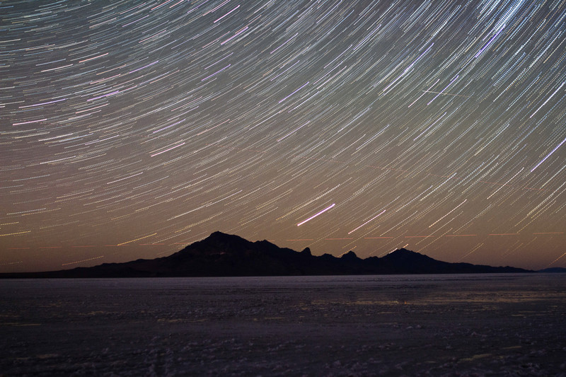 Salt Flats Star Trails - For Sale Scenery Photography