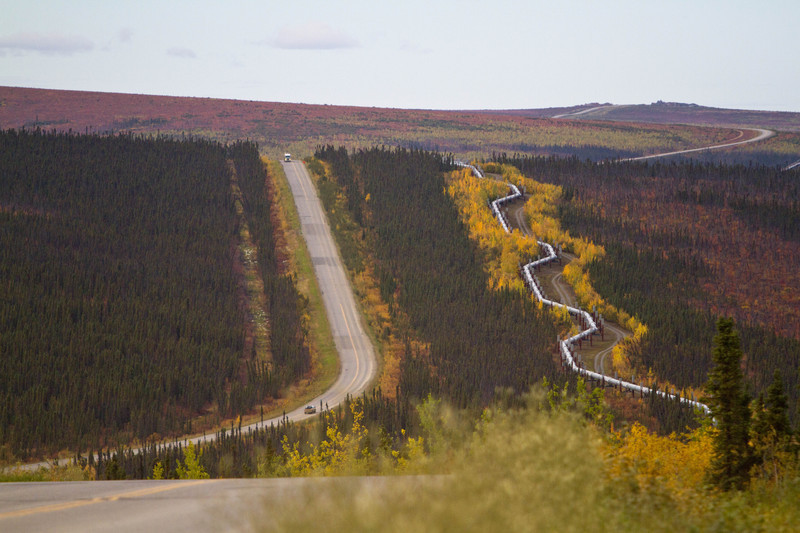 Dalton Highway and Alaskan Oil Pipeline Horizontal - For Sale Scenery Photography