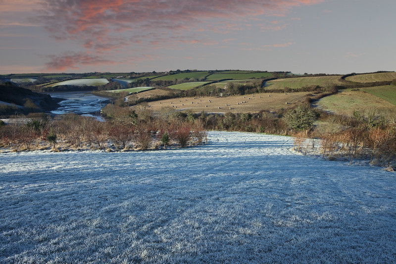 Frosted dawn - The Roseland Cornwall