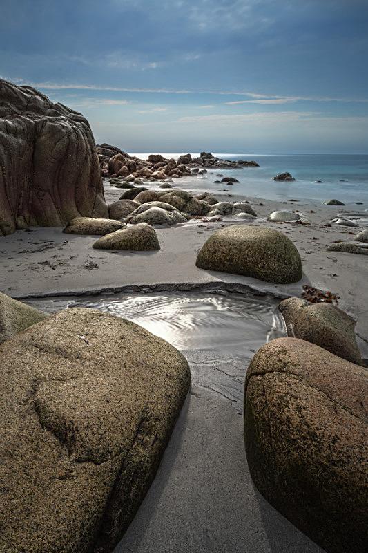 Rocks And Ocean. - Cornwall three
